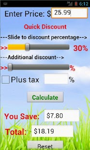Quick Discount Calculator- screenshot thumbnail