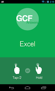 GCF Answers for Excel - screenshot thumbnail