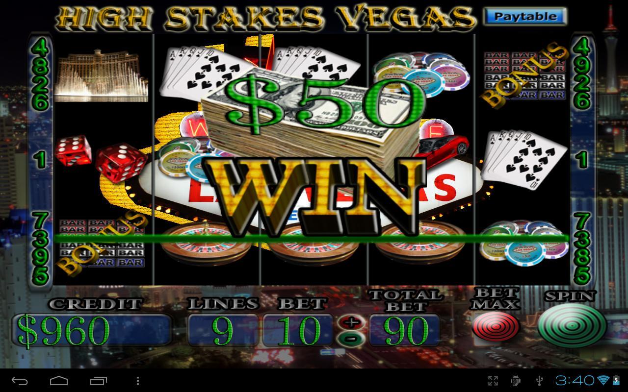 las vegas high stakes slots videos