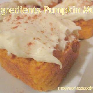 2 Ingredients Pumpkin Muffins! Recipe