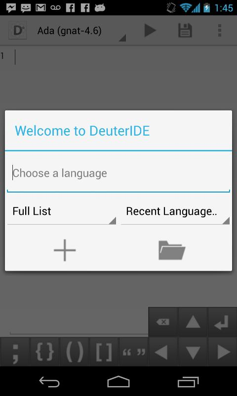 DeuterIDE - Compiler and IDE - screenshot