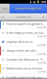 ListNote Speech-to-Text Notes Screenshot