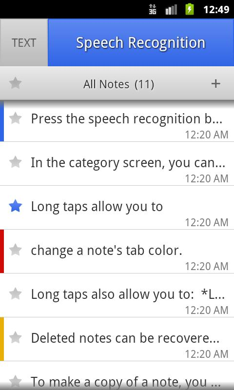 ListNote Speech-to-Text Notes- screenshot