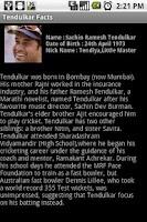 Screenshot of Tendulkar Facts