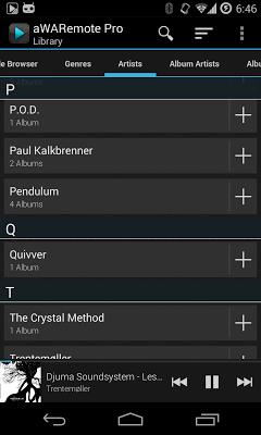 aWARemote Pro for Winamp® - screenshot