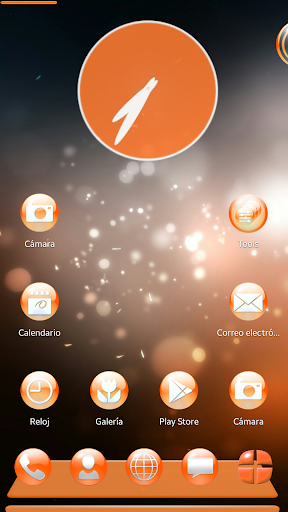 Next Launcher Theme Oranginum