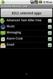 Advanced Task Killer Screenshot