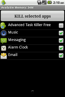 Screenshots of Advanced Task Killer for iPhone
