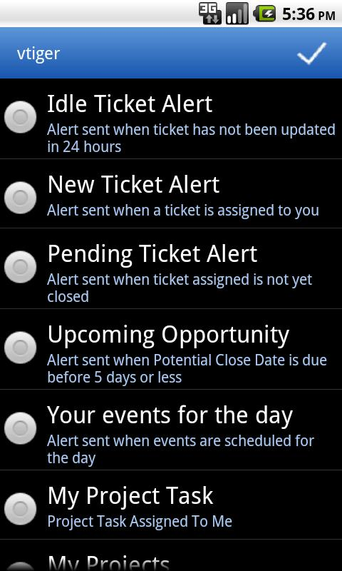 vtiger CRM Mobile - screenshot