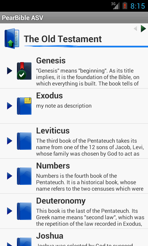 Pear Bible ASV - screenshot