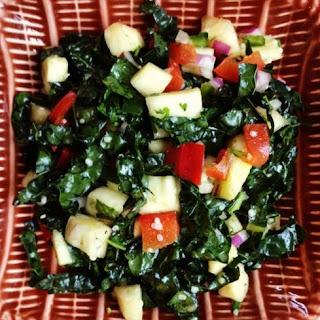 Spicy Pineapple Kale Salad.