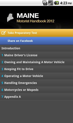 Maine Motorist Handbook Free