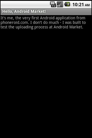 Hello, Android Market! - screenshot