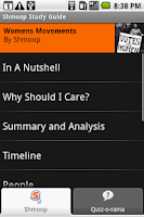 Screenshot of Women's Movements: Shmoop