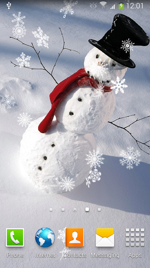 snowman live wallpaper apl android di google play. Black Bedroom Furniture Sets. Home Design Ideas