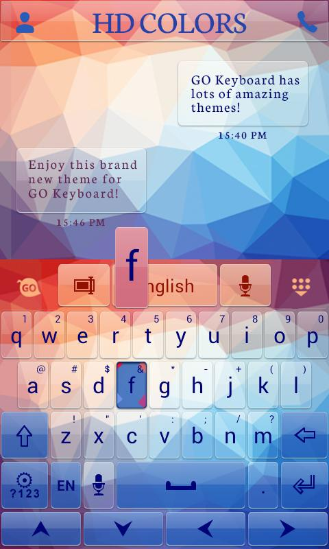 HD Colors GO Keyboard Theme- screenshot