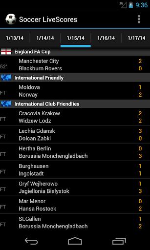 Soccer LiveScores 5.0 screenshots 1