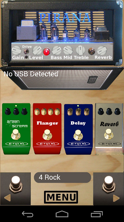 usbEffects (Guitar Effects) - screenshot