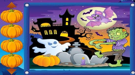 kids puzzle game halloween screenshot thumbnail