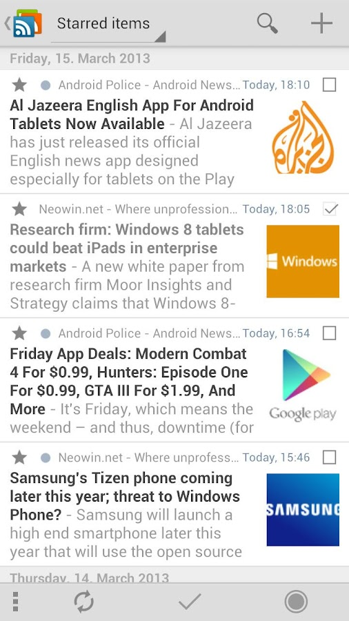gReader | Feedly | News |  RSS - screenshot