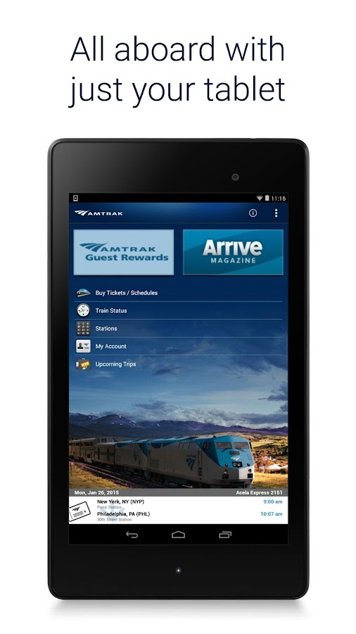 Amtrak - screenshot