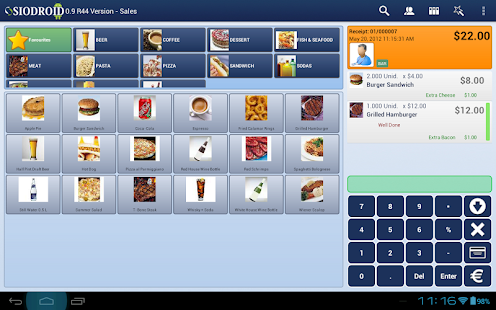 SIODROID Point of Sale (DEMO) - screenshot thumbnail