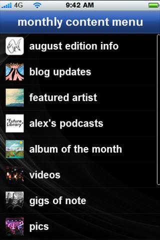 petpiranha's music app- screenshot