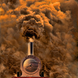 Smokey by Agha Ahmed - Transportation Trains ( eagle, railway, engine, steam train, locomotive, railroad, train, smoke, steam )