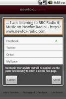Screenshot of Newfox Radio