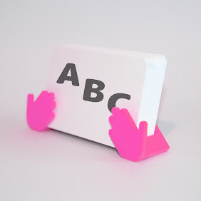Shop Card Stand (Pink)