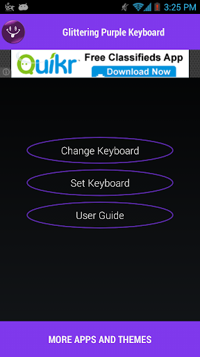 Glittering Purple Keyboard