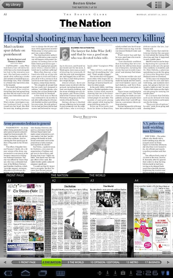 The Boston Globe ePaper - screenshot