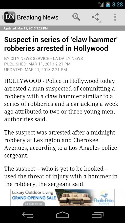 LA Daily News - screenshot