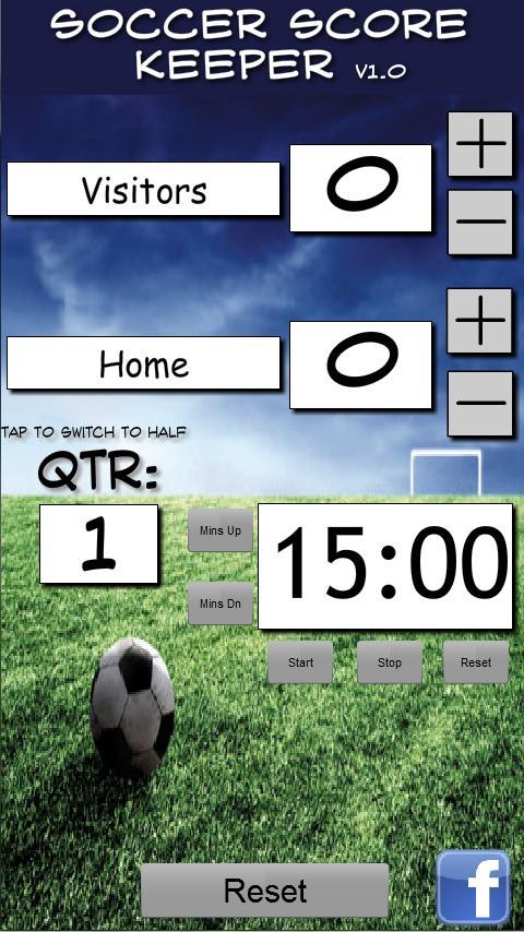 Soccer Scorekeeper- screenshot
