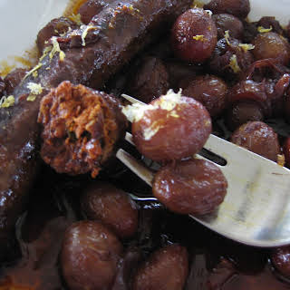 Roasted Merguez And Grapes.