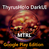 DarkMTRL ThyrusHolo CM11 Theme
