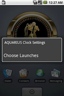 AQUARIUS - Zodiac Clock - screenshot thumbnail
