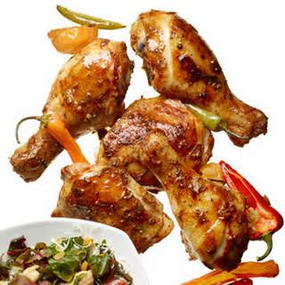 Roast Chicken with Yogurt-Chili Rub.