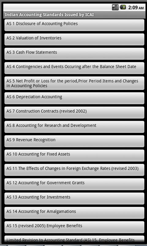 Indian Accounting Standards - screenshot