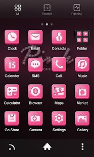 Pink GO Launcher Theme - screenshot thumbnail