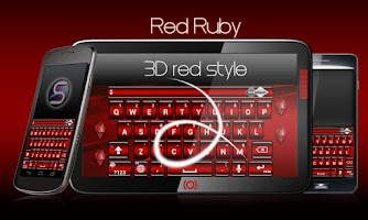 Screenshot of SlideIT Red Ruby Skin