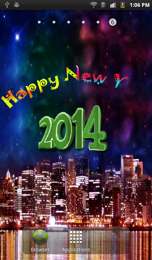 New Year HD Live Wallpaper- screenshot