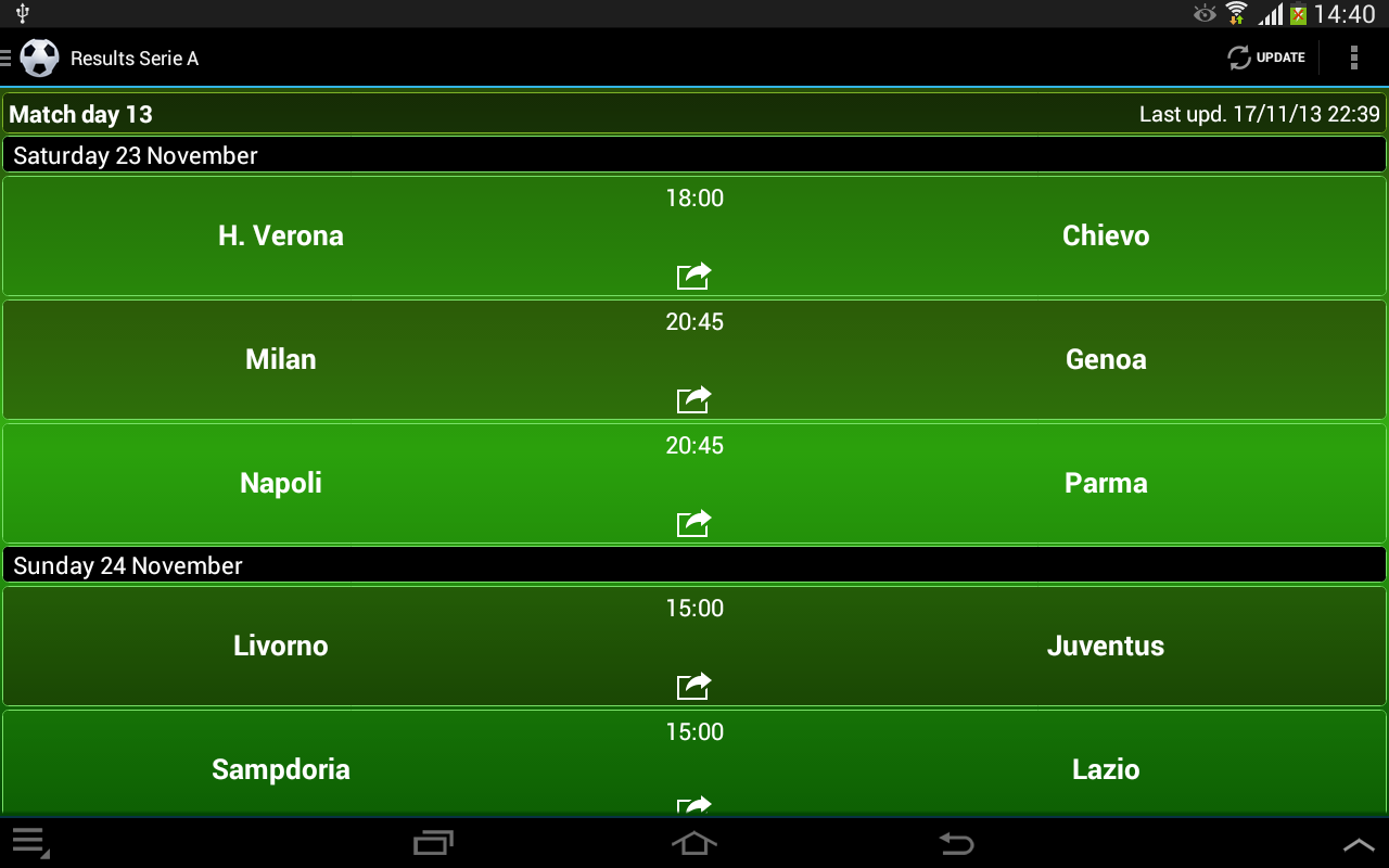 Italian Football 2014/2015 - screenshot