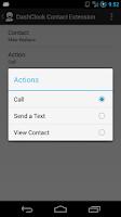 Screenshot of DashClock Contact Extension