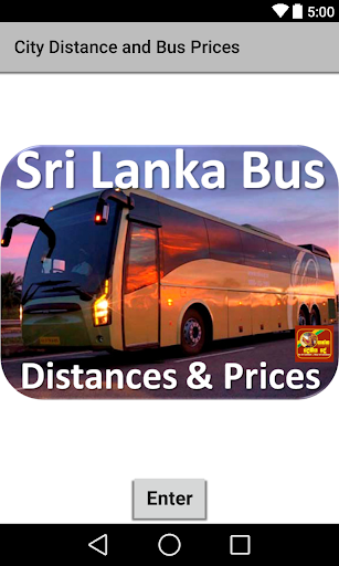 Lanka bus Distances Prices