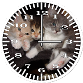 Cat 3 Kittens Analog Clock