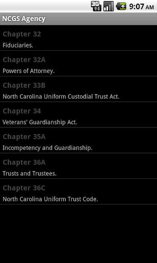 NC General Statutes - Agency