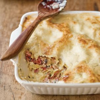 White Lasagna with Mushrooms and Prosciutto