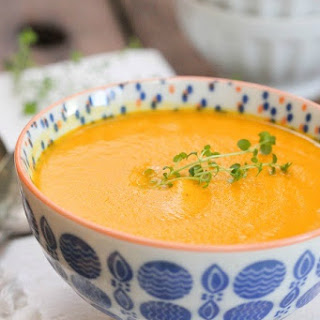 Simple Creamy Carrot Soup.