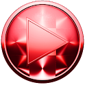 Poweramp Skin RED BRUSHED icon